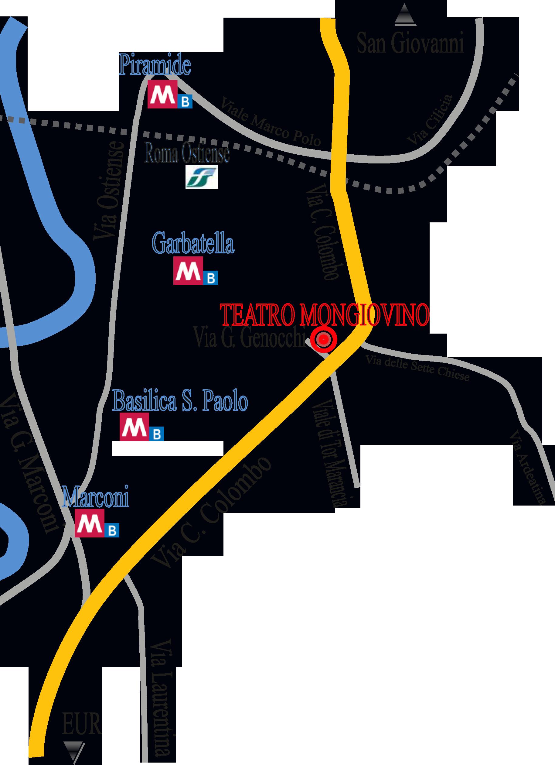 mappa teatro
