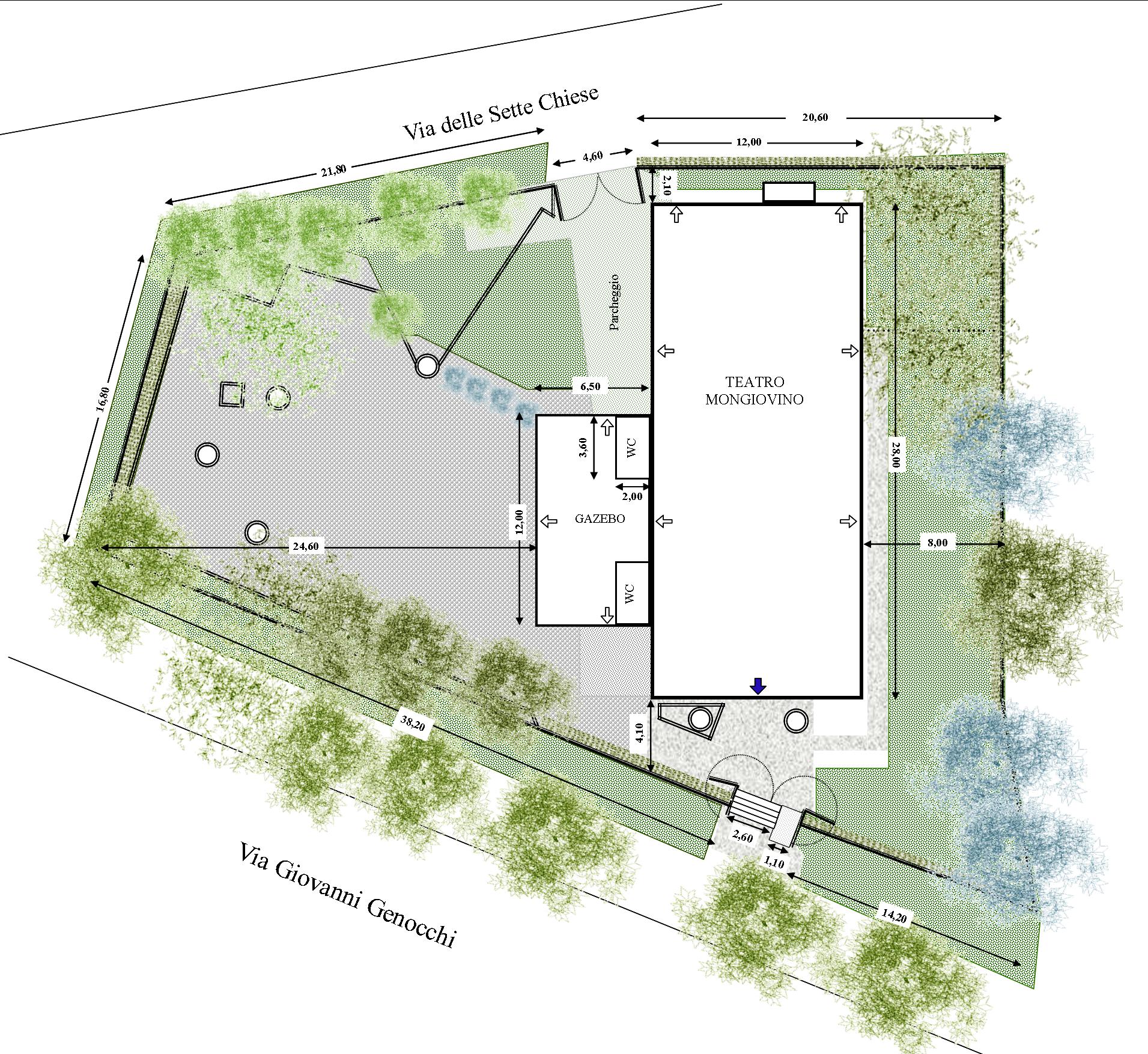 planimetria teatro-giardino
